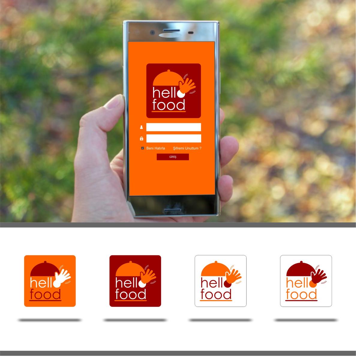 Tasarlayan Logo Runlog-Hello Food uygulamasına logo