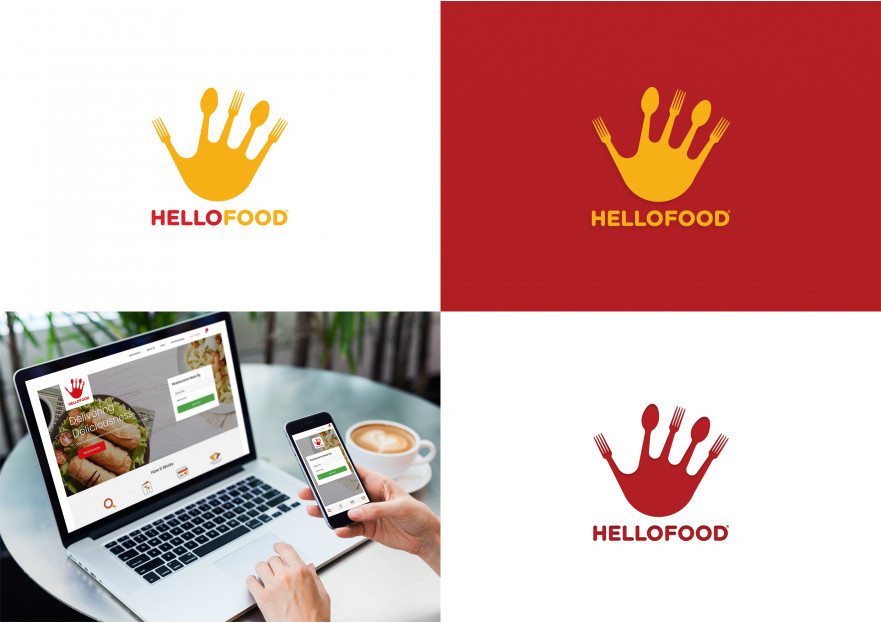 Hello Food uygulamasına logo yarışmasına Hello tarafından girilen tasarım