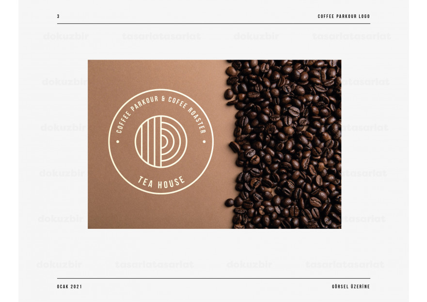 3.nesil kahvecimize logo arıyoruz yarışmasına dokuzbir tarafından girilen tasarım