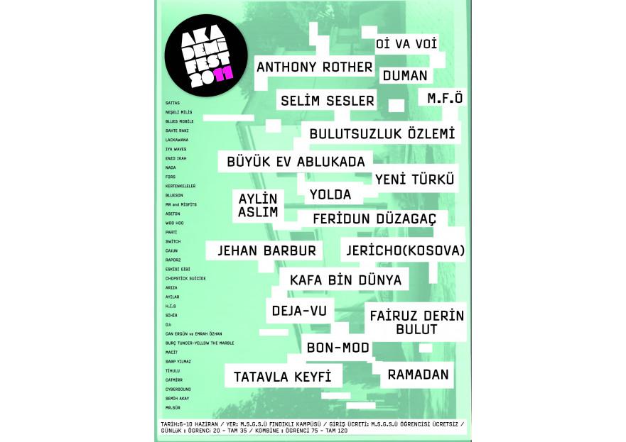 Akademifest 2011 Afiş Tasarımı yarışmasına tasarımcı parpali tarafından sunulan  tasarım