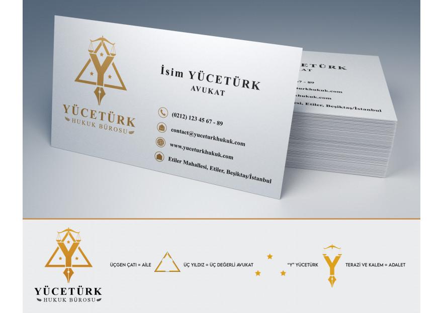 avukatlık ofisine logo ve kart tasarlama yarışmasına graffikman tarafından girilen tasarım