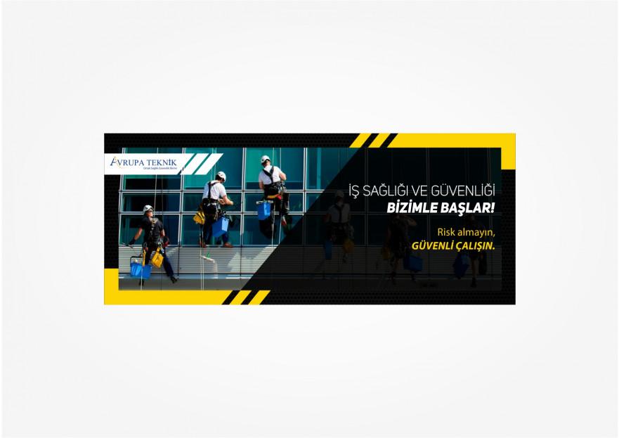 İş Güvenliği için Banner yarışmasına tasarımcı syyrealism tarafından sunulan  tasarım