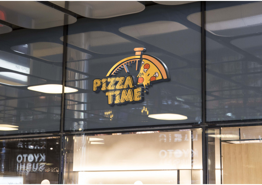 Pizza Time Logo Tasarım Yarışması yarışmasına Zelalk tarafından girilen tasarım