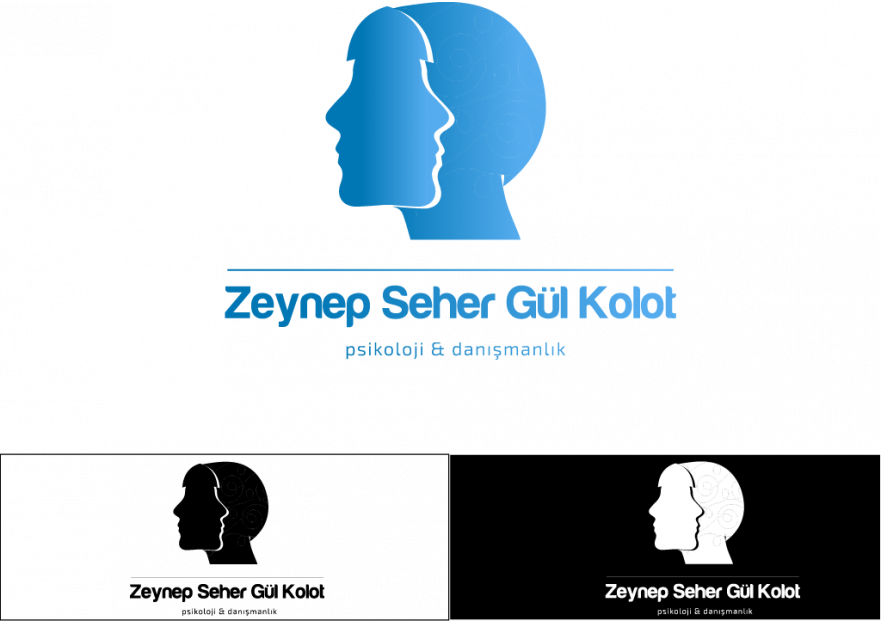Psikoloji kliniği logo tasarımı yarışmasına tasarımcı Kaan grafik tarafından sunulan  tasarım