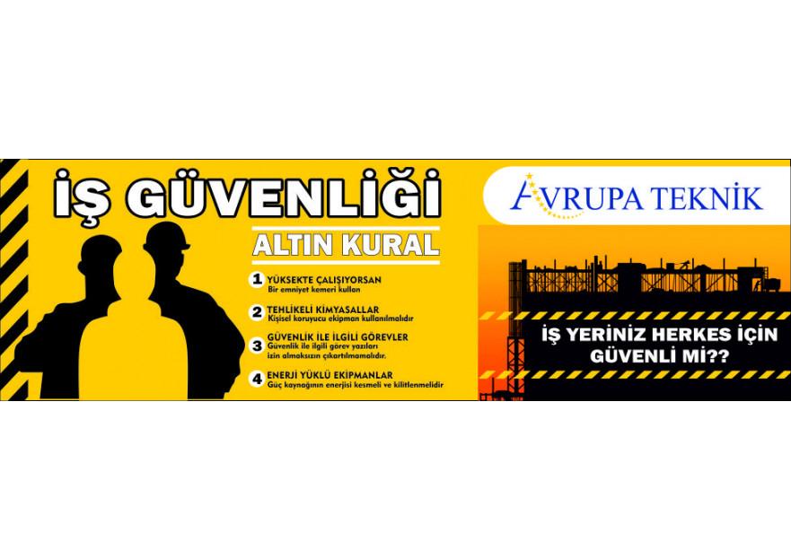 İş Güvenliği için Banner yarışmasına tasarımcı deadlydesign tarafından sunulan  tasarım
