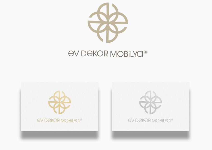 EV DEKOR MOBİLYA FİRMAMIZA YENİ LOGO  yarışmasına tasarımcı Kalzeno tarafından sunulan  tasarım