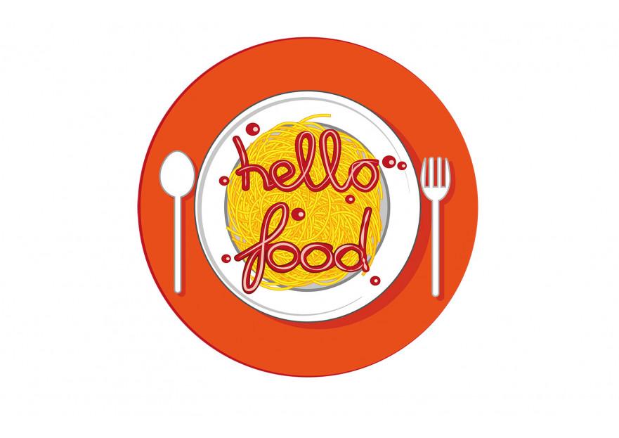 Hello Food uygulamasına logo yarışmasına tasarımcı CEMUS tarafından sunulan  tasarım
