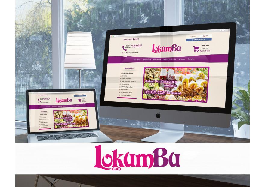 Lokumun yeni merkezi LokumBu.com'a Logo yarışmasına Felluche™ tarafından girilen tasarım