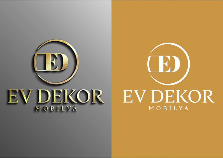 EV DEKOR MOBİLYA FİRMAMIZA YENİ LOGO  yarışmasına tasarımcı Logoritma tarafından sunulan  tasarım