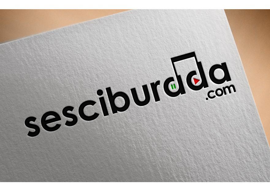 Sesciburada E-Ticaret sistemiz için logo yarışmasına tasarımcı TASARIMCI77 tarafından sunulan  tasarım