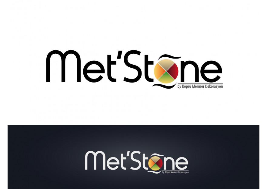 Met'Stone markası için logo tasarımı yarışmasına tasarımcı serd@r tarafından sunulan  tasarım