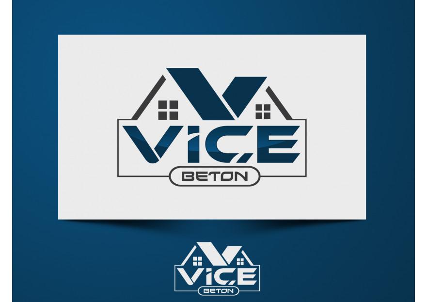 VİÇE BETON Logo Yarışması Başladı yarışmasına tasarımcı uaslanpay tarafından sunulan  tasarım