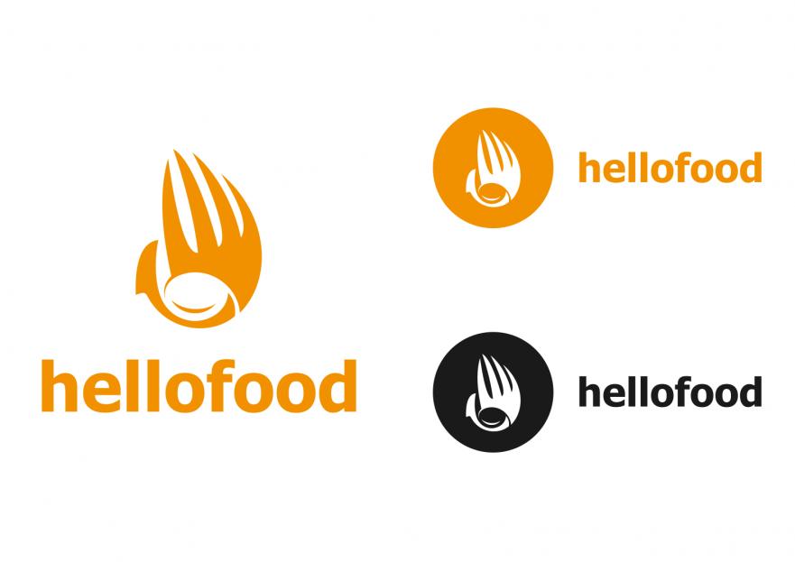 Hello Food uygulamasına logo yarışmasına tasarımcı bdesign tarafından sunulan  tasarım