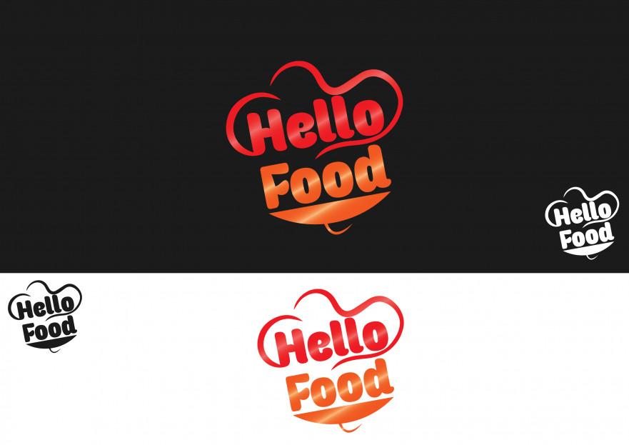 Hello Food uygulamasına logo yarışmasına tasarımcı serbay tarafından sunulan  tasarım
