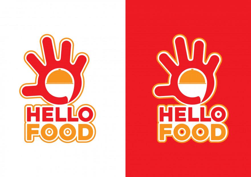 Hello Food uygulamasına logo yarışmasına tasarımcı T2DESİGNER tarafından sunulan  tasarım