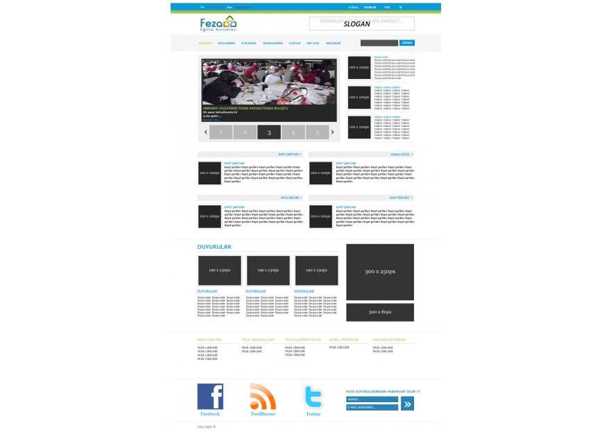 Özel Okul Web Sitesi yarışmasına tasarımcı yyuzuak tarafından sunulan  tasarım