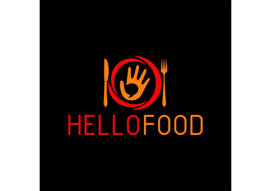 Hello Food uygulamasına logo yarışmasına tasarımcı nrgz26 tarafından sunulan  tasarım