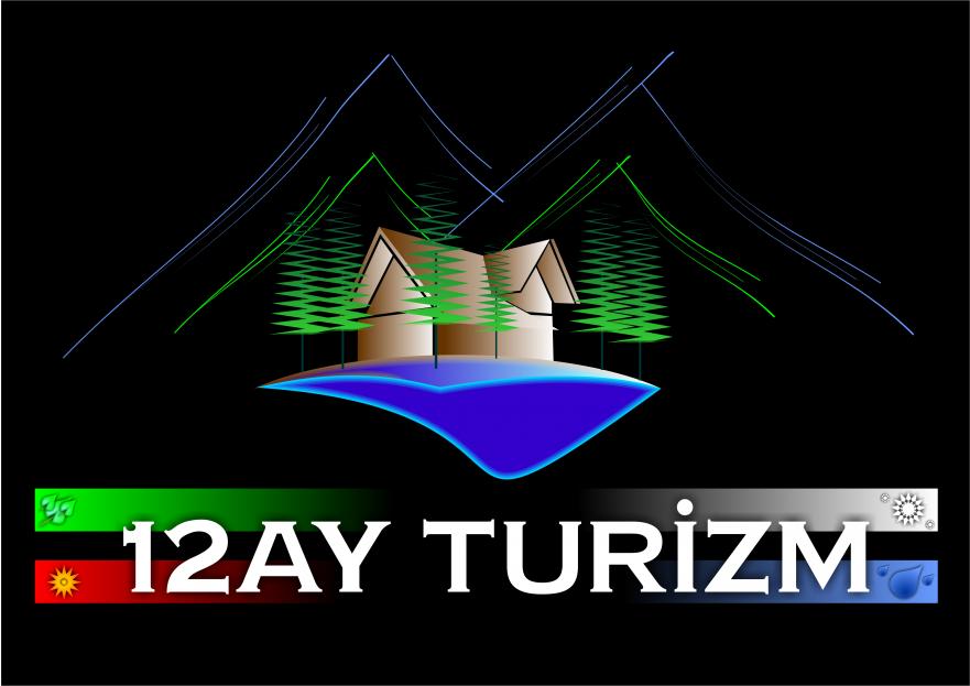 oniki ay ( 12 ay ) turizm logo çalışması yarışmasına tasarımcı Fatih Ercan tarafından sunulan  tasarım