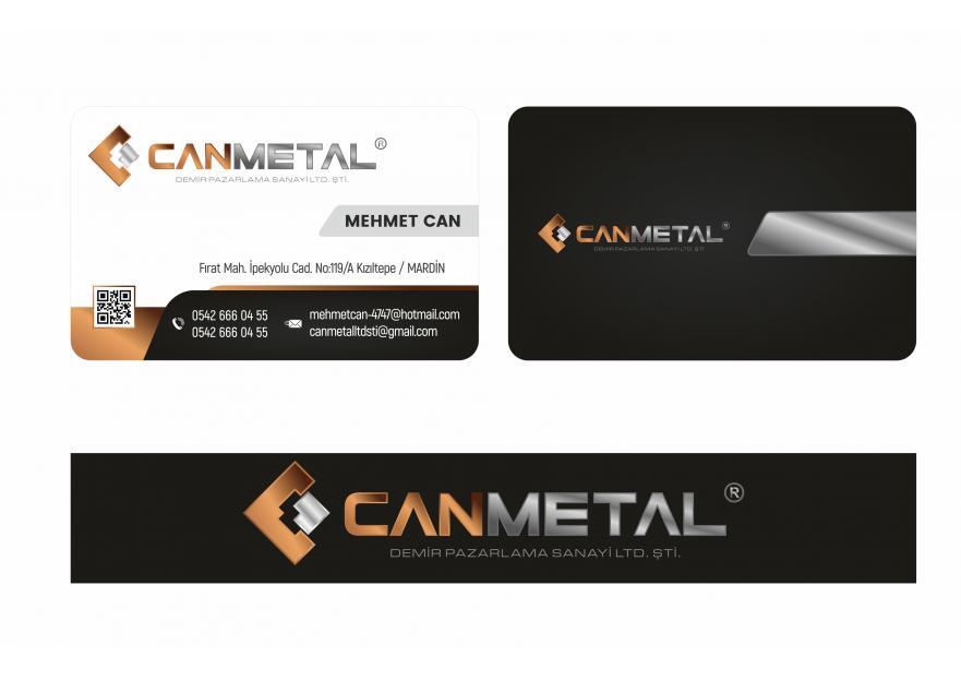 CANMETAL demir pazarlama logo ve kartviz yarışmasına Verum tarafından girilen tasarım