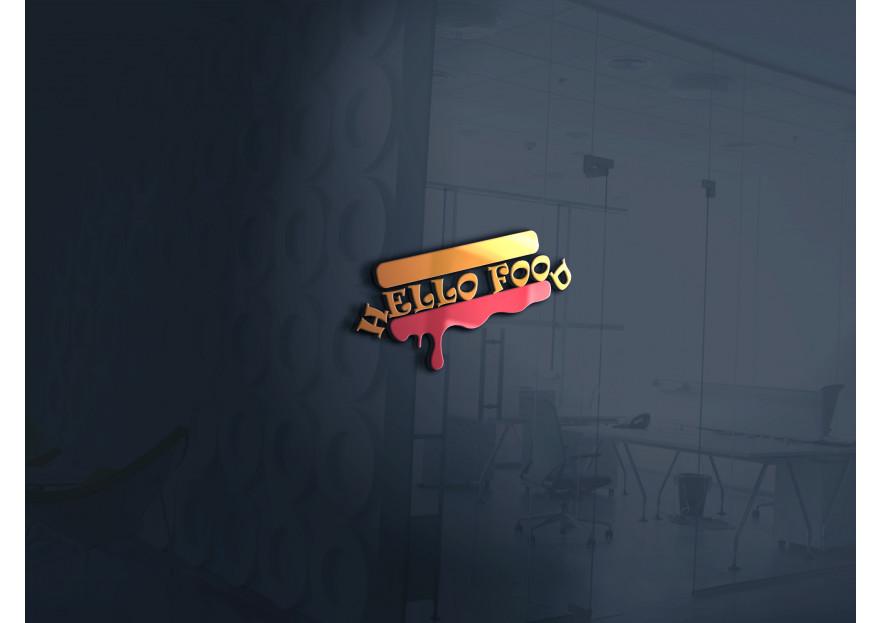 Hello Food uygulamasına logo yarışmasına tasarımcı emreyldz tarafından sunulan  tasarım