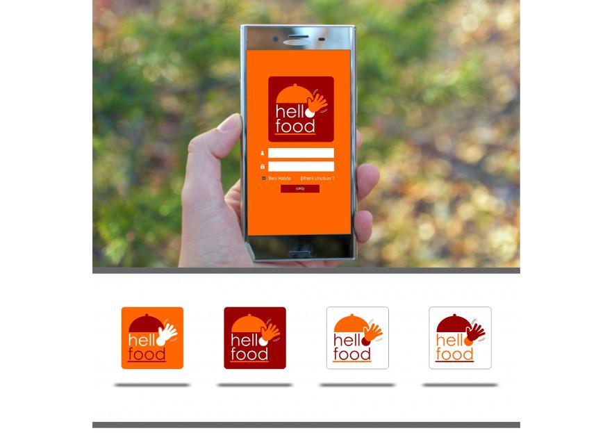 Hello Food uygulamasına logo yarışmasına tasarımcı Logo Runlog tarafından sunulan  tasarım
