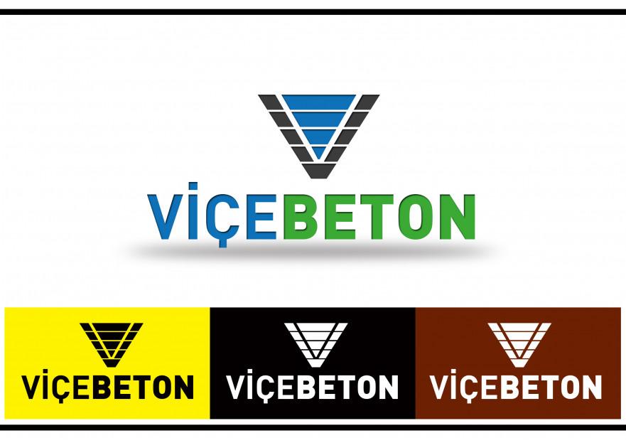 VİÇE BETON Logo Yarışması Başladı yarışmasına tasarımcı joker tarafından sunulan  tasarım