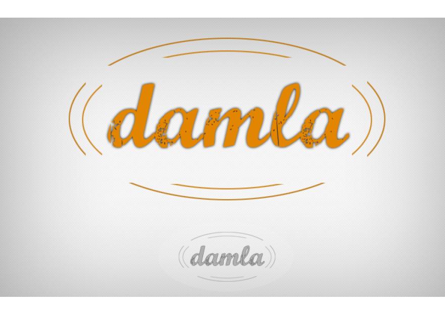 DAMLA Çikolata ve Şekerleme logo tasarım yarışmasına tasarımcı DirtyBlack tarafından sunulan  tasarım