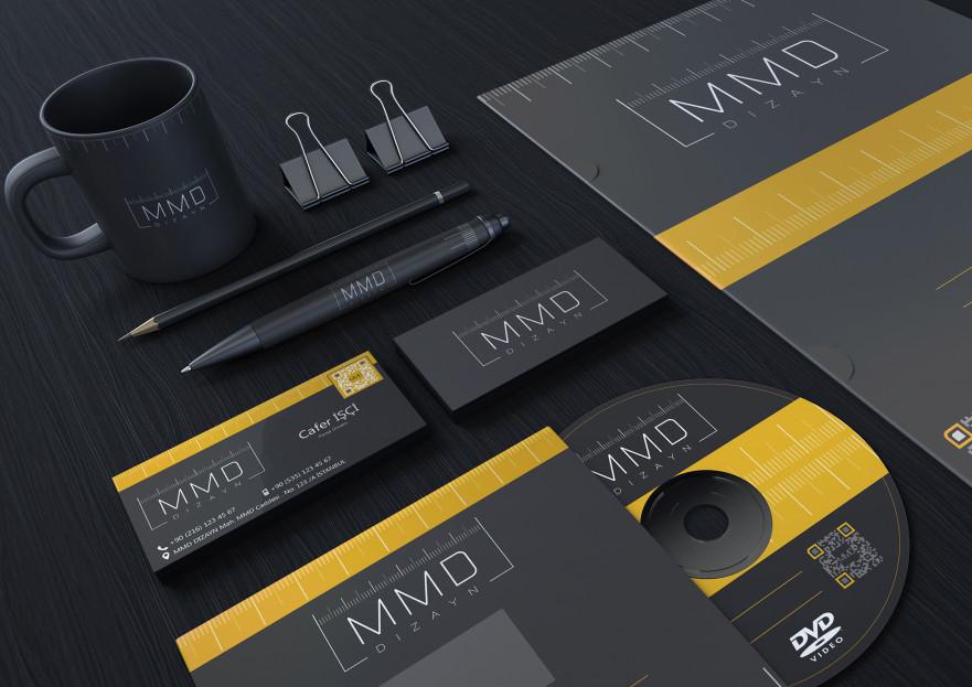 MİLİMETRİC DİZAYN LOGO, KART VE KURUMSAL yarışmasına tasarımcı mrdgsn tarafından sunulan  tasarım