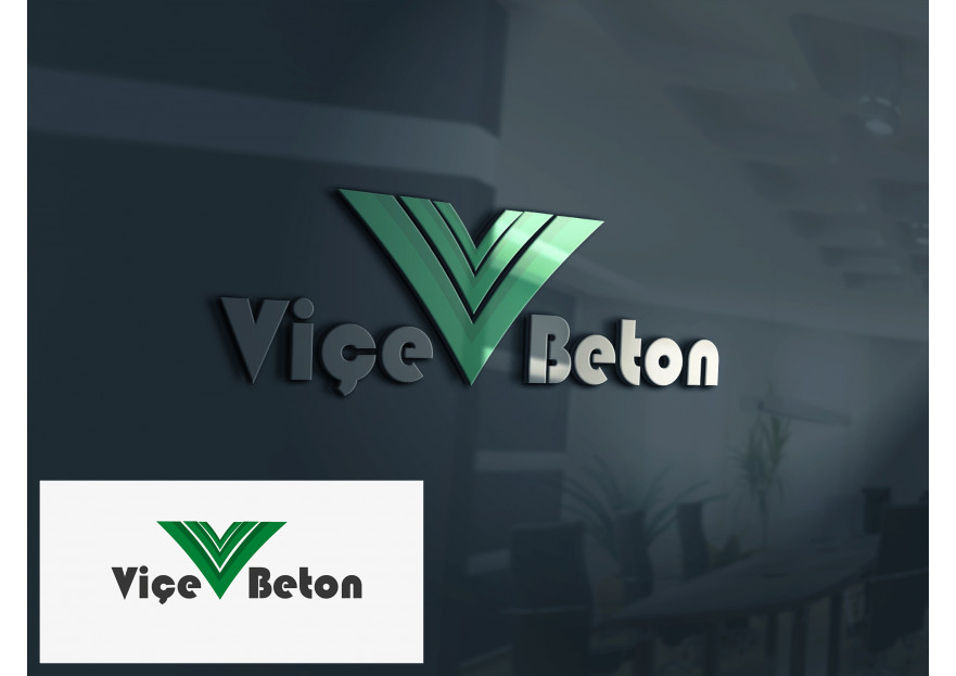 VİÇE BETON Logo Yarışması Başladı yarışmasına tasarımcı serd@r tarafından sunulan  tasarım