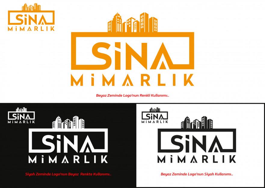 Sina Mimarlık Logosunu arıyor yarışmasına tasarımcı kaanocsenler tarafından sunulan  tasarım