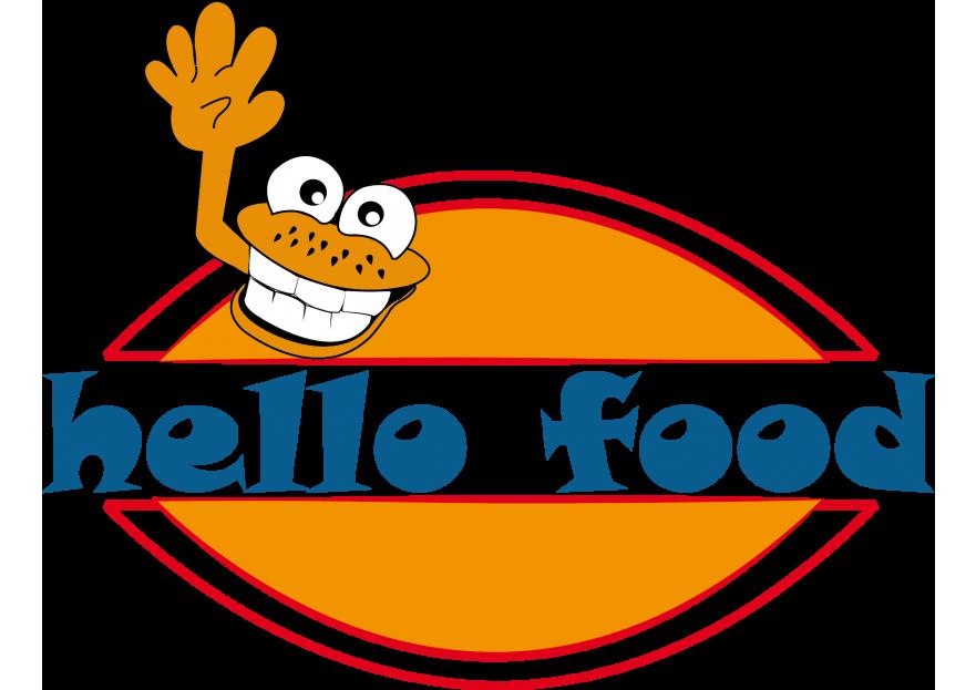 Hello Food uygulamasına logo yarışmasına tasarımcı Zea tarafından sunulan  tasarım