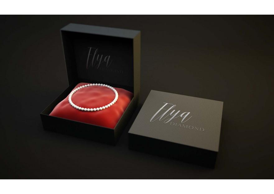 ELYA Pırlanta firması Logo tasarımı yarışmasına tasarımcı C.K tarafından sunulan  tasarım