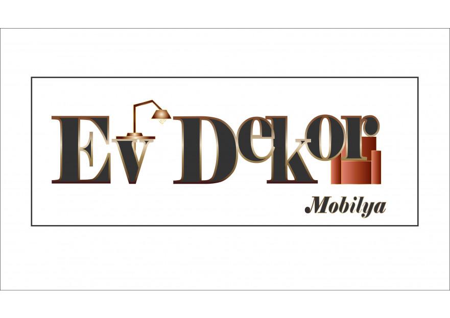 EV DEKOR MOBİLYA FİRMAMIZA YENİ LOGO  yarışmasına tasarımcı MerveS. tarafından sunulan  tasarım