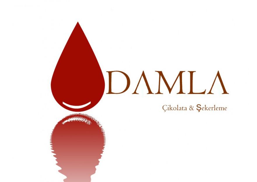 DAMLA Çikolata ve Şekerleme logo tasarım yarışmasına TeZCaN tarafından girilen tasarım