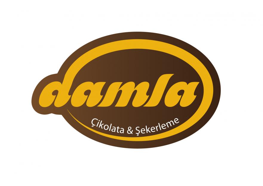 DAMLA Çikolata ve Şekerleme logo tasarım yarışmasına tasarımcı umutcoan tarafından sunulan  tasarım