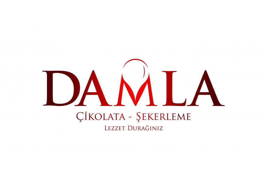 DAMLA Çikolata ve Şekerleme logo tasarım yarışmasına celender tarafından girilen tasarım