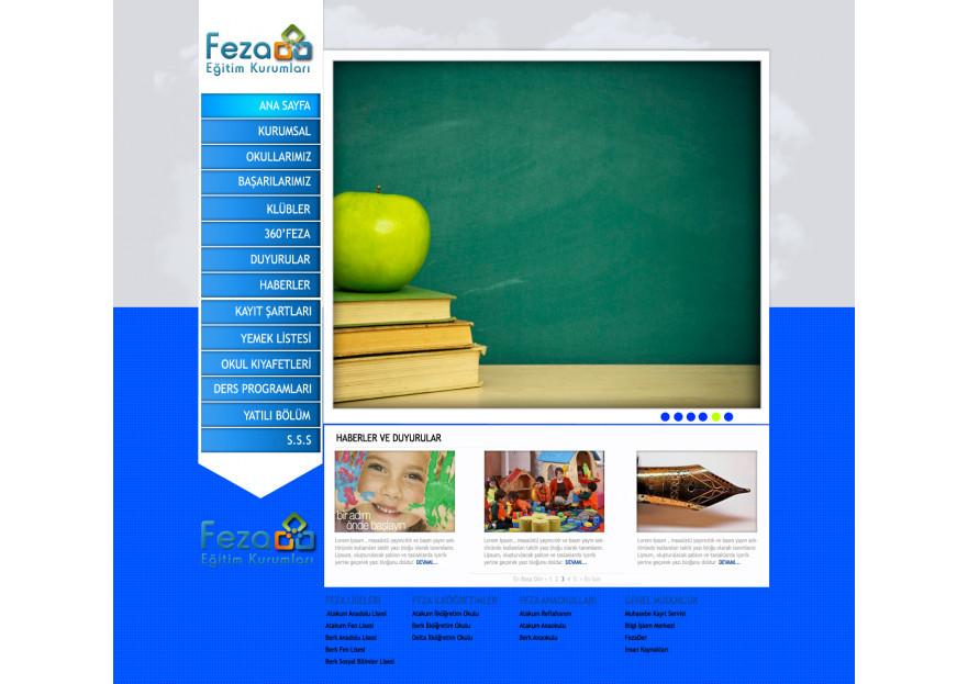 Özel Okul Web Sitesi yarışmasına tasarımcı uaslanpay tarafından sunulan  tasarım