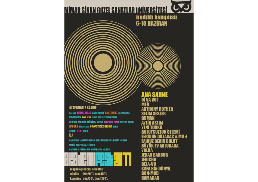 Akademifest 2011 Afiş Tasarımı yarışmasına tasarımcı etuc tarafından sunulan  tasarım