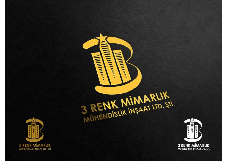 3 RENK MİMARLIK LOGO TASARIMI yarışmasına tasarımcı Muss tarafından sunulan  tasarım