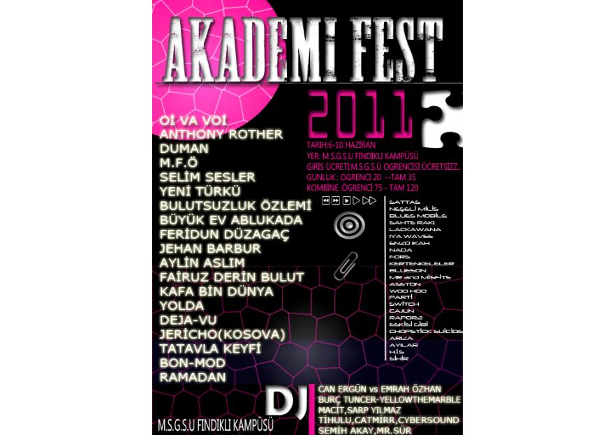 Akademifest 2011 Afiş Tasarımı yarışmasına ardagundogdu tarafından girilen tasarım