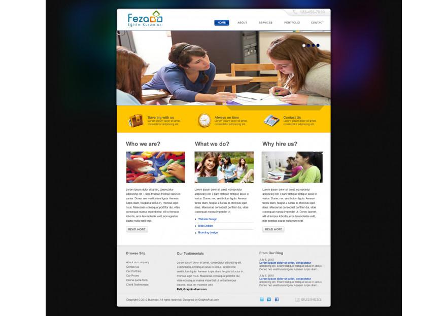 Özel Okul Web Sitesi yarışmasına tasarımcı RΛPİDO ™ tarafından sunulan  tasarım