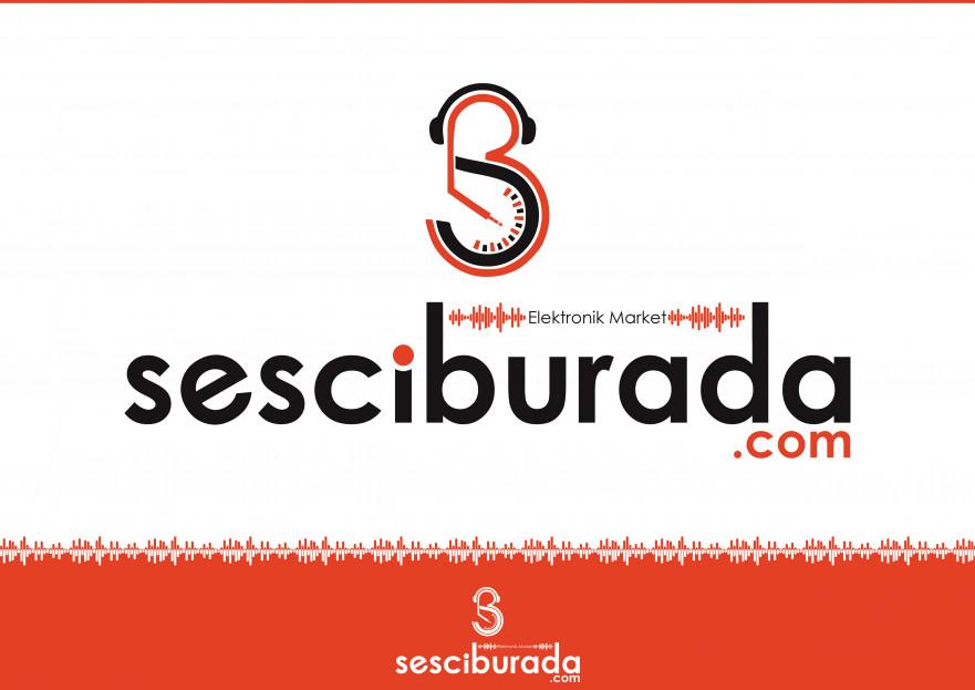 Sesciburada E-Ticaret sistemiz için logo yarışmasına tasarımcı X198 tarafından sunulan  tasarım