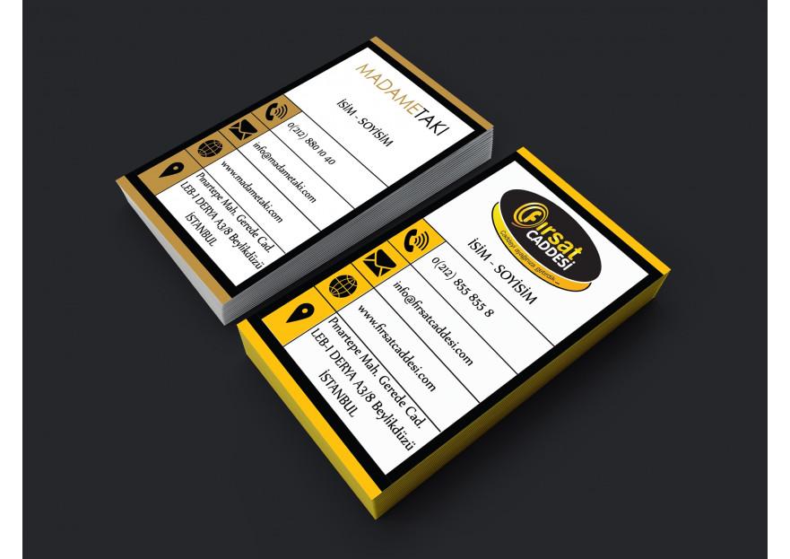 2 Marka Tek Kartvizit yarışmasına tasarımcı GhostSpy tarafından sunulan  tasarım
