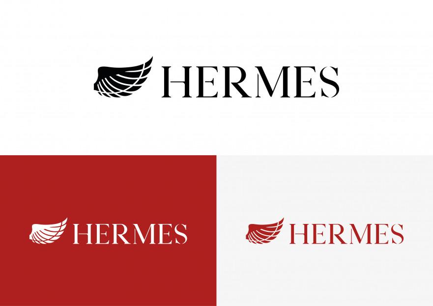 Hermes logo ve kurumsal kimlik yarışması yarışmasına tasarımcı mugeyalcin tarafından sunulan  tasarım