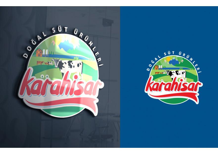 KARAHİSAR SÜT yarışmasına tasarımcı LogoPing™ tarafından sunulan  tasarım