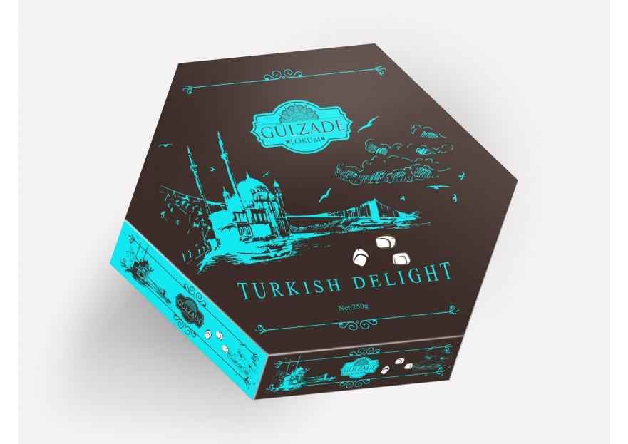 Lokum markamız için kutu çalışması  yarışmasına EmiqaQanpir tarafından girilen tasarım