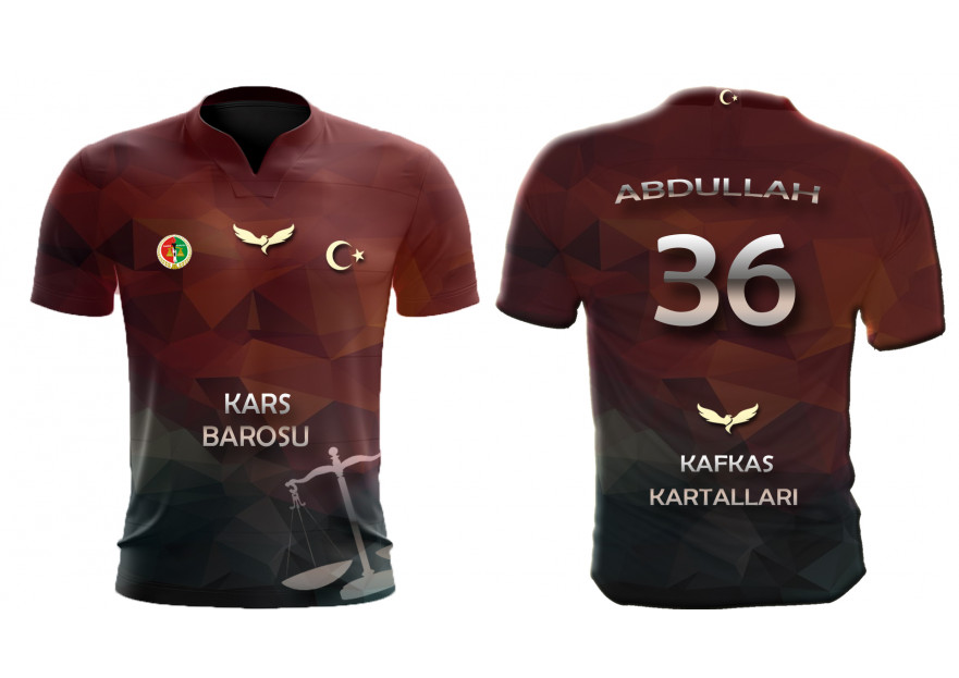 KARS BAROSU FUTBOL TAKIMI FORMA TASARIMI yarışmasına tasarımcı Mübessa tarafından sunulan  tasarım