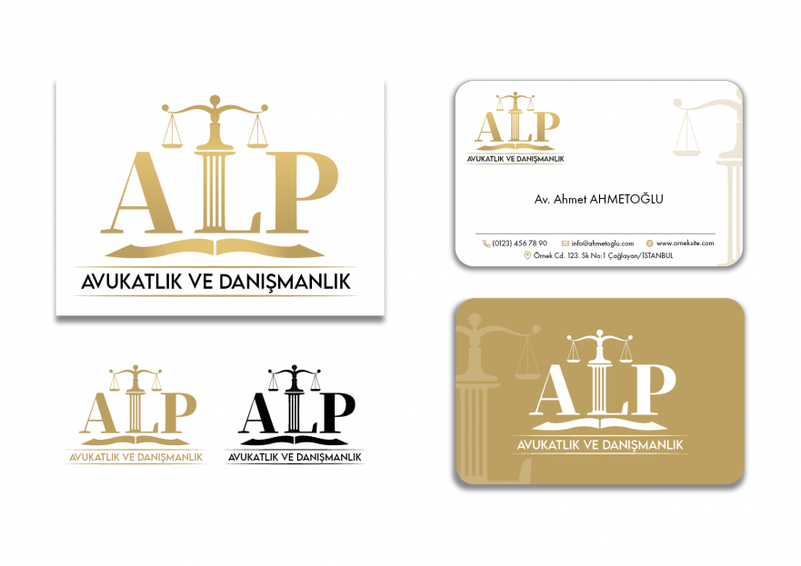 HUKUK OFİSİ İÇİN LOGO VE KARTVİZİT  yarışmasına tasarımcı Atakan Şahin tarafından sunulan  tasarım