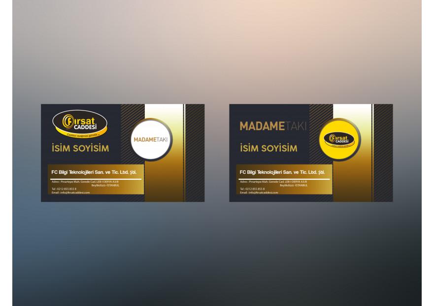 2 Marka Tek Kartvizit yarışmasına tasarımcı hattori hanzo® tarafından sunulan  tasarım