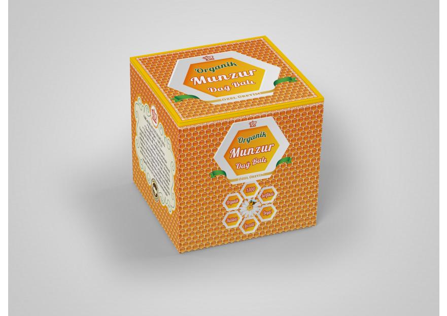 Organik bal kavanozu kutusu yarışmasına Sihir tarafından girilen tasarım